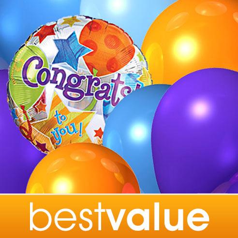 Congratulations Florist Designed Balloon Bouquet
